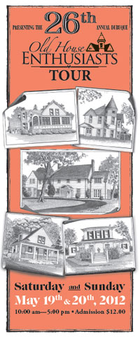 2012 Dubuque Old House Enthusiasts tour brochure